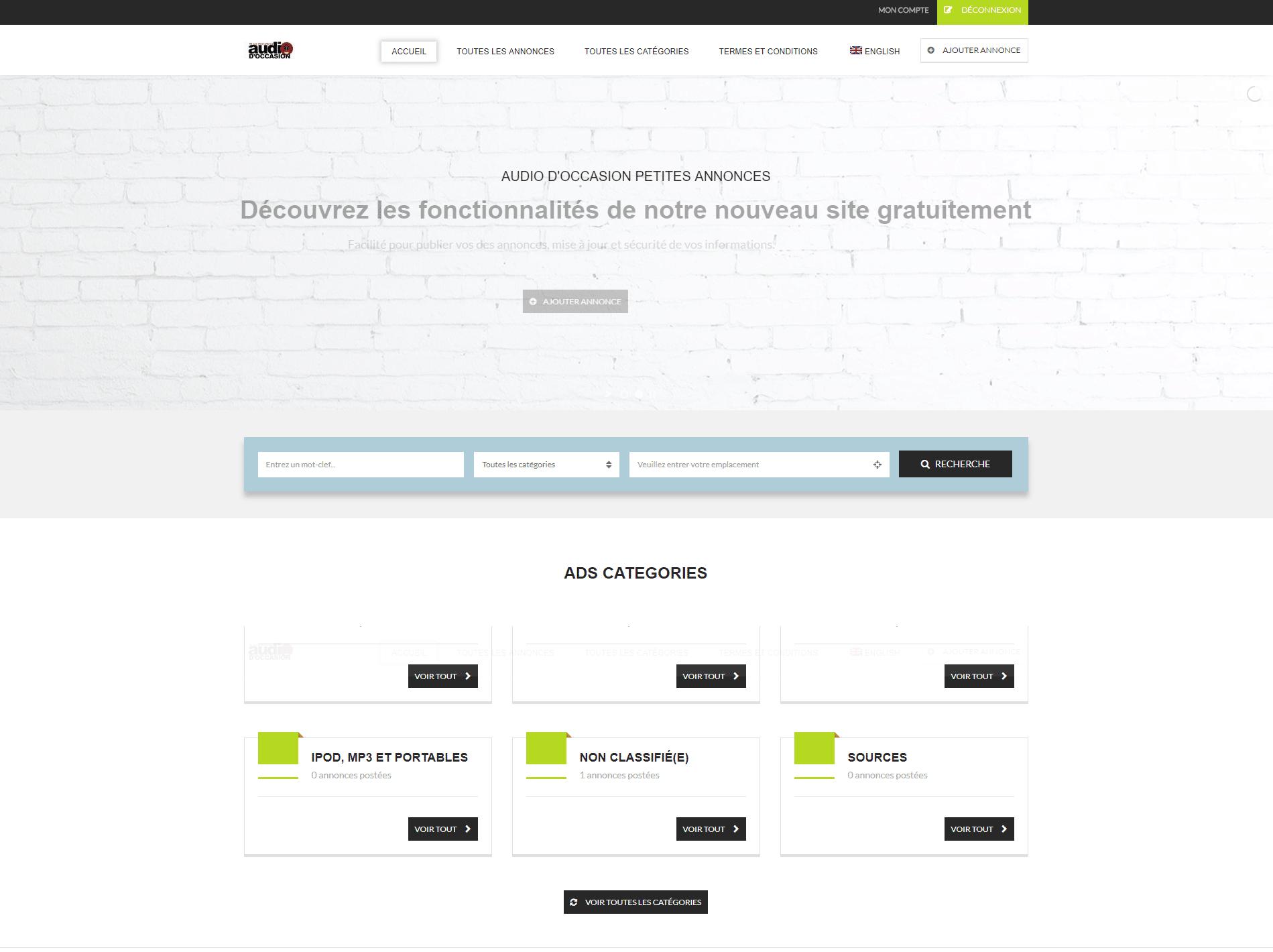 Petites Annonces site web