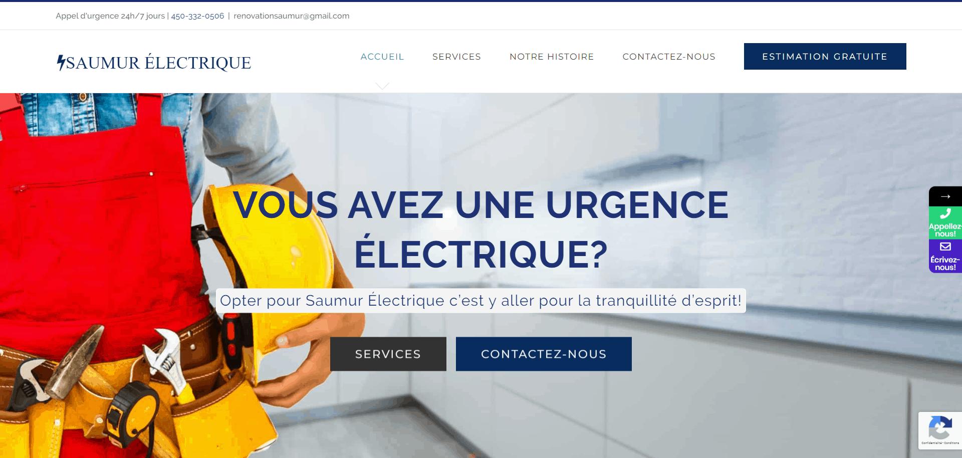 Saumur Électrique – www.saumurelectrique.ca